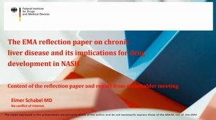 The EMA reflection paper on chronic liver disease and its implications for drug development in NASH