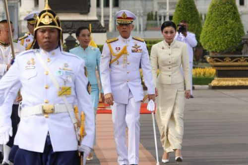 King of Thailand 'isolates' in luxury hotel with entourage of 20 women