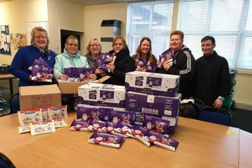 Big-hearted Dumbarton group donate 500 selection boxes to foodbank