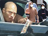 Jeremy Meeks throws his leftovers out of a car window after making a food run with a mystery woman