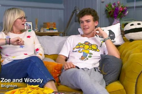 Zoe Ball outraged by son Woody on Celeb Gogglebox over beach confession