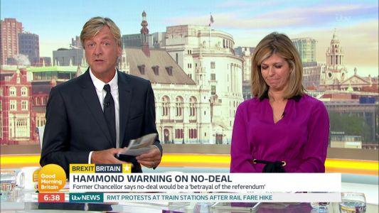 Kate Garraway stuns Good Morning Britain fans as she asks Richard Madeley 'what is it like to be a dick?'