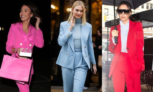 Celebrities in bright coloured trouser suits: This could be our favourite spring fashion trend yet