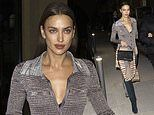 Irina Shayk steps out after the Missoni show during Milan Fashion Week