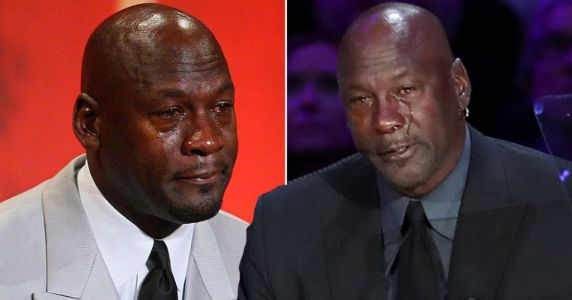 Michael Jordan jokes he will start another 'crying meme' as he breaks down at Kobe Bryant memorial