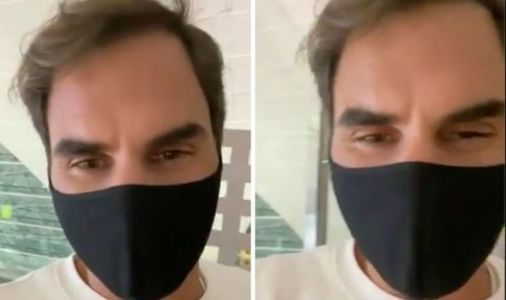 Roger Federer sends message to fans as he boards plane ahead of injury comeback