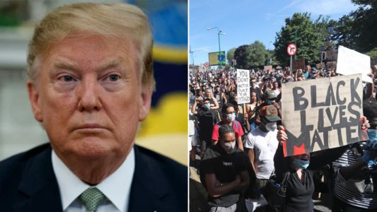 Donald Trump 'demands for George Floyd protesters to be jailed for 10 years'