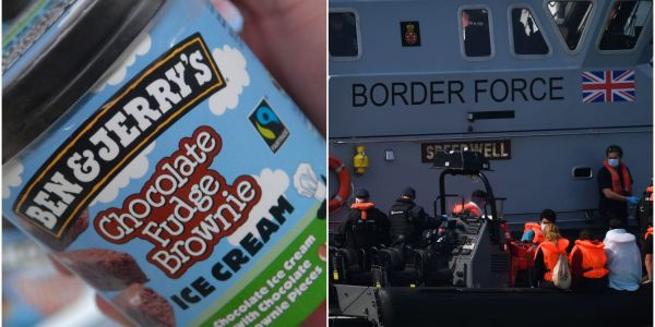 Ben and Jerry's got into a fight with the British government over its 'lack of humanity' towards migrant boat people arriving from France