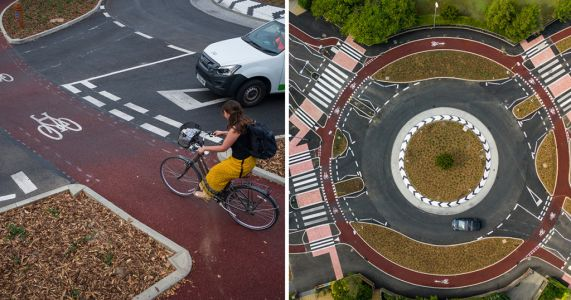 UK's first roundabout giving cyclists priority closes within days after crash