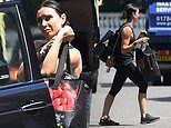 Christine Lampard displays her toned physiquea s she steps out for a stroll