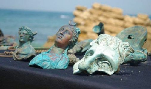 Archaeology news: Ancient coins and statues found in 'rare' 1,600-year-old hoard in Israel