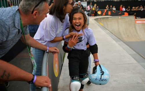 Britain's 11-year-old skateboard sensation Sky Brown wins bronze at World Championships in Sao Paulo