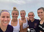 It's the sea Lionesses! England stars head to beach after beating Scotland in Women's World Cup