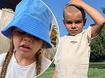 Kourtney Kardashian declares she is 'not OK' as son Reign Disick, five, shaves off his long locks