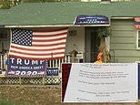 New Hampshire homeowners with pro-Trump signs on their lawns receive letter threatening an 'attack'