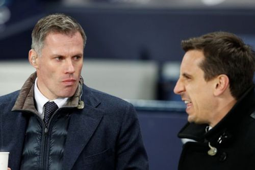 Jamie Carragher trolls Gary Neville after he jokes Liverpool are bottling the title