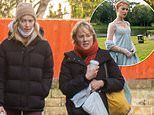 Bridgerton's Phoebe Dynevor heads to a farmer's market with her Corrie mum Sally
