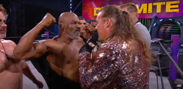 Mike Tyson sparks huge brawl with AEW star Chris Jericho on Dynamite as boxing legend wants a fight