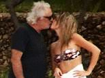 Flavio Briatore, 69, is pictured kissing new law student girlfriend Bernadetta Bosi, 20