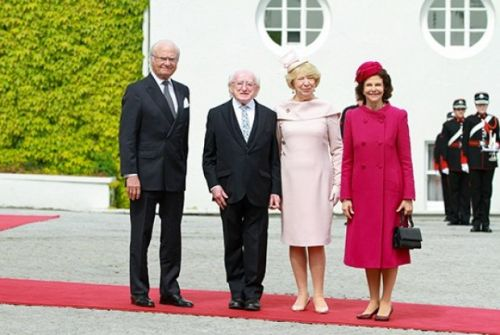 King and Queen of Sweden start state visit to Ireland