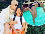 Selma Blair posts naked photo jumping into her pool to get back at her son for pushing her in