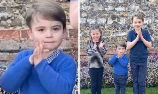 'He's so big!' Royal fans gush over Prince Louis in new video with George and Charlotte