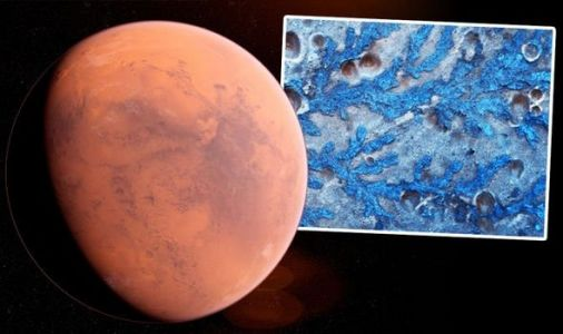 Mars mystery: ESA probe spies 'leaf-like structures' in an ancient Mars impact crater