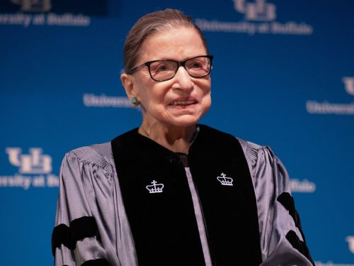 Ruth Bader Ginsburg wore sparkling heels for an award presentation, and people can't get enough of her style