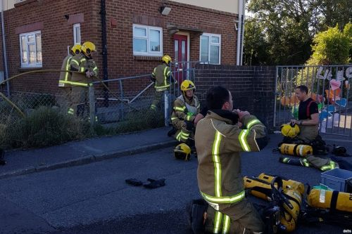 One person taken to hospital after flat fire in Weymouth