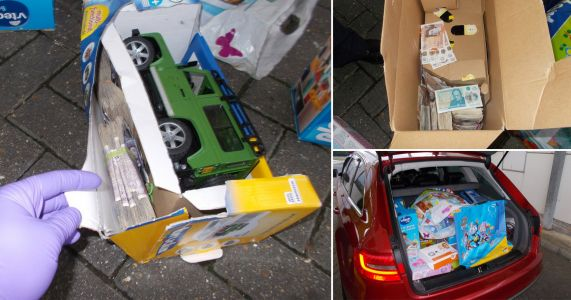 More than £23,000 found in children's toys after car stopped at Channel Tunnel