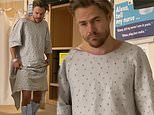 Derek Hough tries to dance for his wife after having emergency surgery to remove his appendix