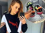 Rebecca Judd sticks her sneakers inside her clothes dryer after dust storms hit Melbourne