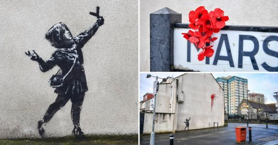 Where is the new Valentine's Day Banksy mural and what does it mean?