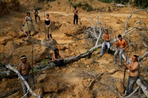 Amazon rainforest fires wipe out tribes' homes as they rage out of control through ancient protected forest reserves
