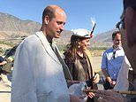 William and Kate visit north Pakistan Hindu Kush mountains where Diana went in traditional clothes