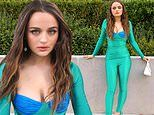 Joey King dolls up in figure-hugging ensemble to promote horror film The Lie coming to Amazon Prime