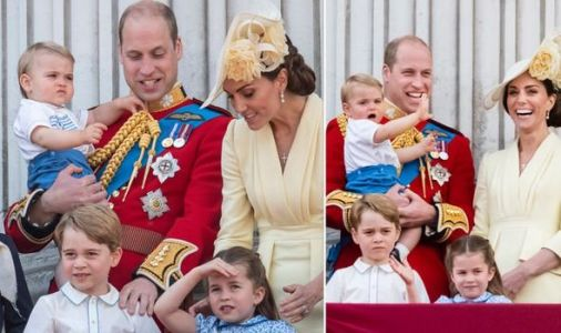 Prince George, Princess Charlotte and Prince Louis spotted welcoming Kate and William home