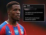 Wilfried Zaha subjected to vile racist abuse ahead of Crystal Palace's game with Aston Villa