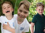 Prince George shows his love of football and sports the Three Lions jersey in birthday pictures