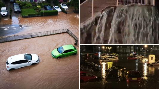 UK to be hit by more storms and flooding as humid heatwave continues