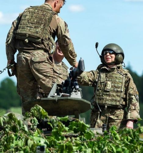 Princess on Parade: Anne visits troops in Estonia