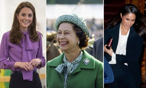 Is this the ultimate royal fashion staple? Duchesses Kate, Meghan and more in chic pussy bow blouses