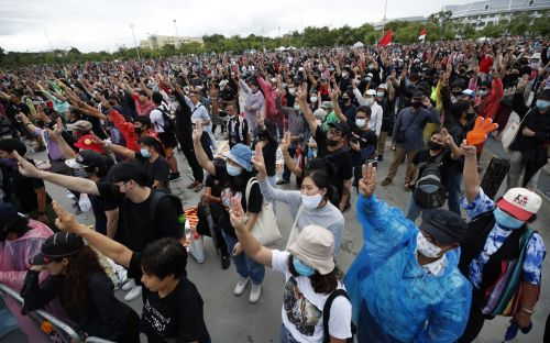 Thousands of Thai protesters call for royal reform in biggest gathering since 2014 coup