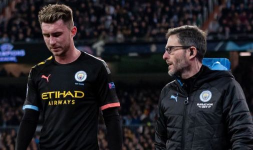 Aymeric Laporte: Manchester City defender ruled out for three or four weeks with hamstring injury