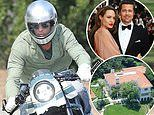 Brad Pitt spends two hours at Angelina Jolie's home