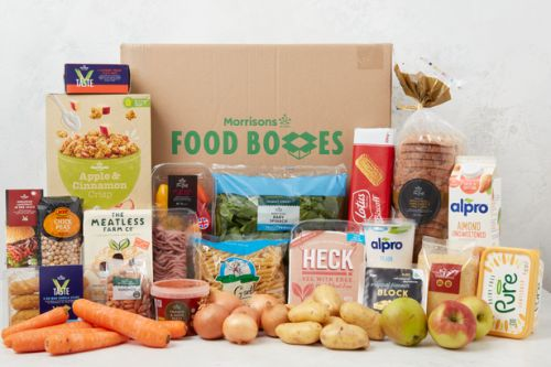 Morrisons launches vegan food box that can feed two for a week for just £35