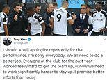 'I promise players in and better efforts from this squad': Fulham owner Tony Khan apologises to fans