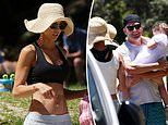 Michael Clarke and his ex Kyly are seen together for the first time since their shock split