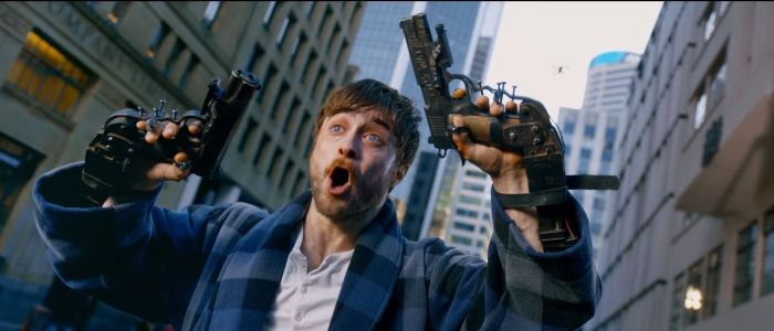 Daniel Radcliffe didn't think about possibility of copycat violence from Guns Akimbo because he's from the UK