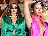 Beyonce sparkles in jewel tones in stunning snaps from Black is King as film has disappointing debut